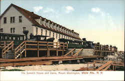 The Summit House and Trains, Mount Washington