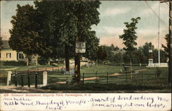 Soldiers' Monument, Edgerly Park Postcard