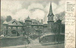 Congregational Church, Club House and Parish House Postcard