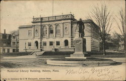 Memorial Library Building Postcard