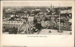 View from Post Office Postcard