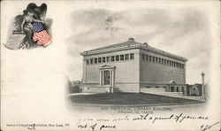 Ray Memorial Library Building Postcard