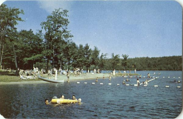 Swimming at Promised Land Lake Pocono Mountains Pennsylvania