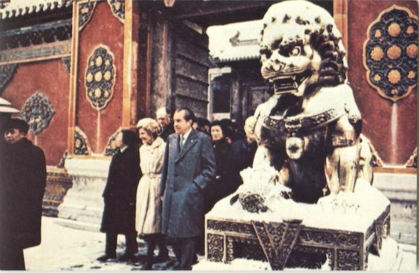 President and Mrs. Nixon Peking China Presidents