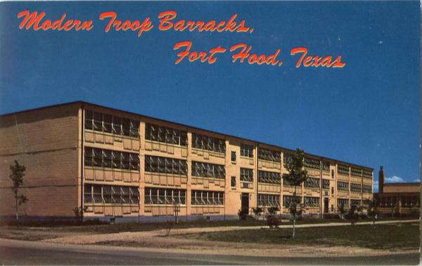 Modern Troop Barracks Fort hood Texas