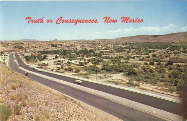 Truth Or Consequences Vintage Post Card