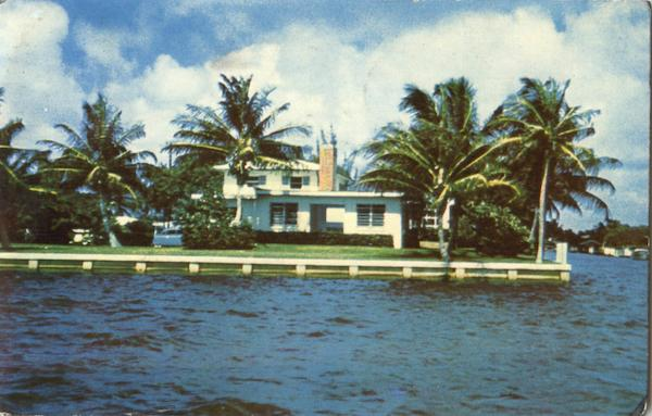 One Of The Palatial Homes Along The Shores Of Biscayne Bay Miami Florida