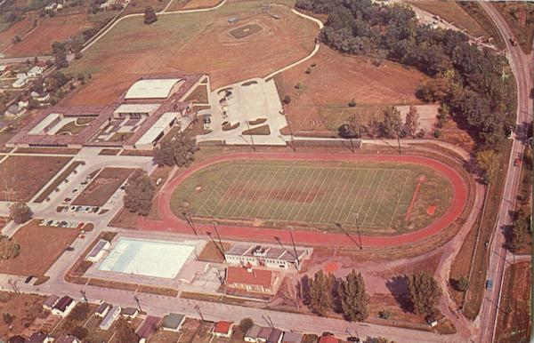 Air View Of Public High School Fort Madison Iowa