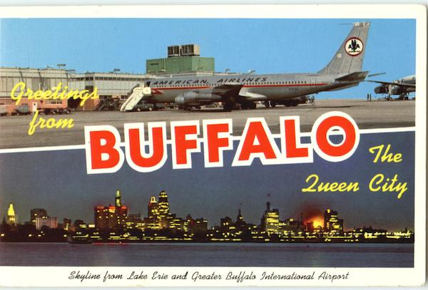 Greetings From Buffalo Airport New Mexico Large Letter