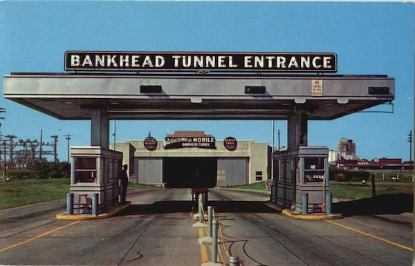 Bankhead Tunnel Entrance Mobile Alabama