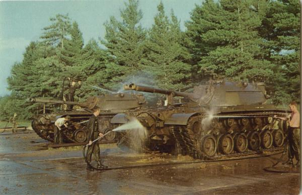 M48 Patton tanks at Camp Drum New York Army