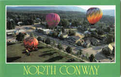 North Conway Hot Air Balloons Postcard