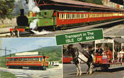 Transport In The Isle Of Man Postcard