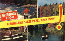 Greetings From Burlingame State Park Postcard