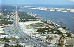 Florida's Fabulous Miracle Strip On The Fort Walton Beach Postcard