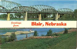 Greetings From Blair Postcard