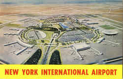 New York International Airport Postcard