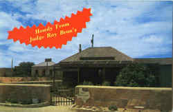 Howdy From Judge Roy Bean's Postcard