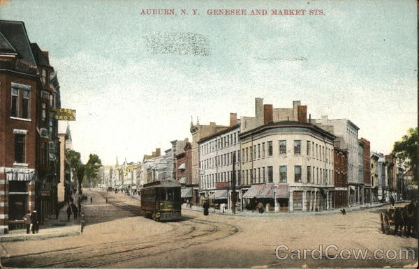 Genesee and Market Sts. Auburn New York
