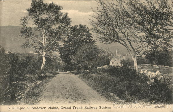 A Glimpse of Grand Trunk Railway System Andover Maine