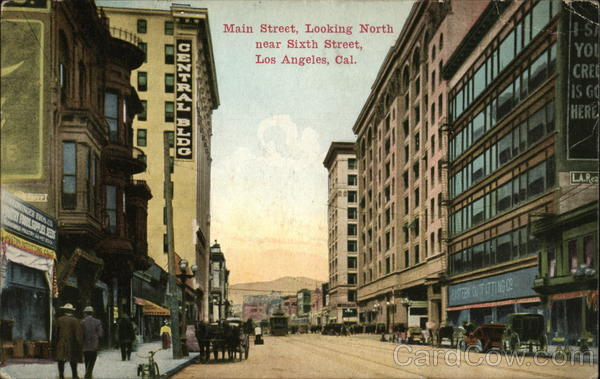 Main Street Looking North near Sixth Street Los Angeles California