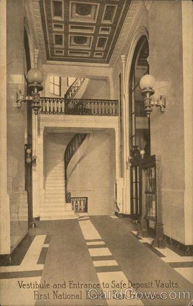 Vestibule and Entrance to Safe Deposit Vaults, First National Bank San Francisco California
