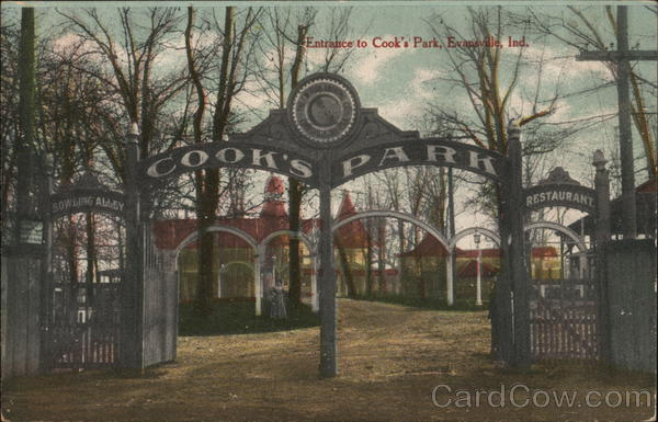 Entrance to Cook's Park Evansville Indiana