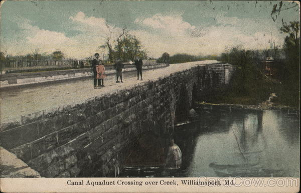 Canal Aquaduct crossing over Creek Williamsport Maryland