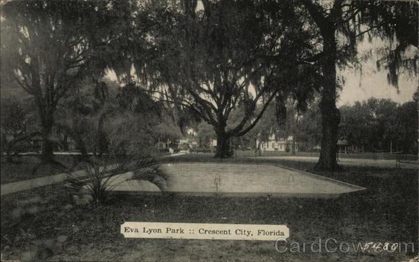 eva lyon park crescent city fl postcard. Black Bedroom Furniture Sets. Home Design Ideas