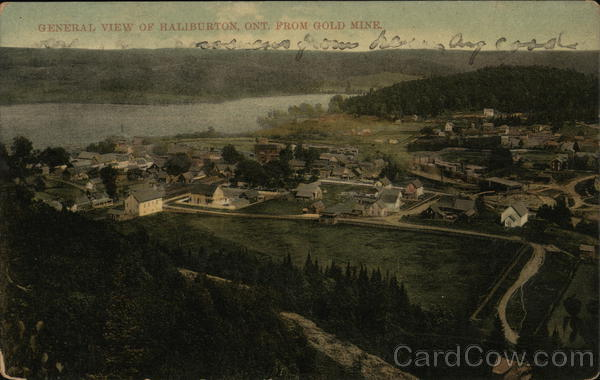 General View of Town from Gold Mine Haliburton Canada