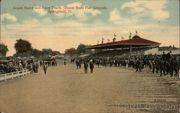 Grand Stand and Race Track, Illinois State Fair Grounds Springfield