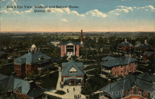 Bird's Eye View, Soldiers' and Sailors' Home Quincy Illinois
