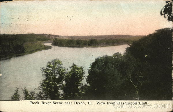Rock River from Hazelwood Bluff Dixon Illinois