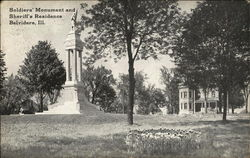 Soldier's Monument and Sheriff's Residence