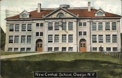 New Central School Postcard