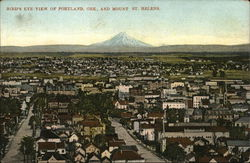 Bird's Eye View of Portland and Mt. St. Helens