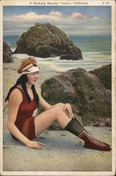 A Bathing Beauty Postcard