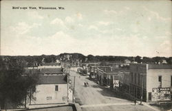 Birds Eye View of Town Postcard