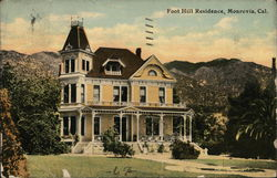 Foot Hill Residence Postcard