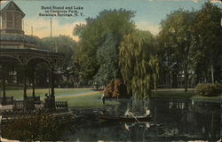 Band Stand and Lake, Congress Park