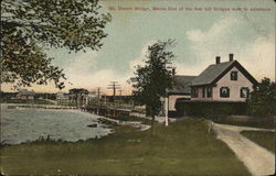 Mt. Desert Bridge - Toll Bridge Postcard