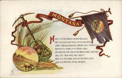 Montana Poem, Flag and Crops