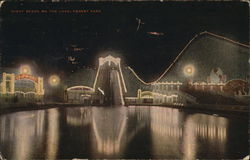 Night Scene on the Lake, Forest Park Postcard