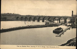 View on Raritan River Showing P.R.R. Bridge