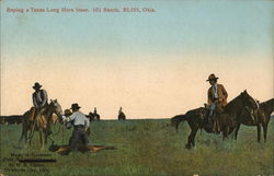 Roping a Long Horn Steer, 101 Ranch