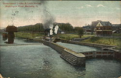 Governmnet Locks & Lock House, Muskingum River
