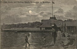 Club House and Bathing Beach by Moonlight