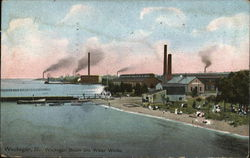 Waukegan Beach and Water Works Postcard