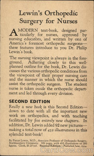 Lewin's Orthopedic Surgery for Nurses Advertising