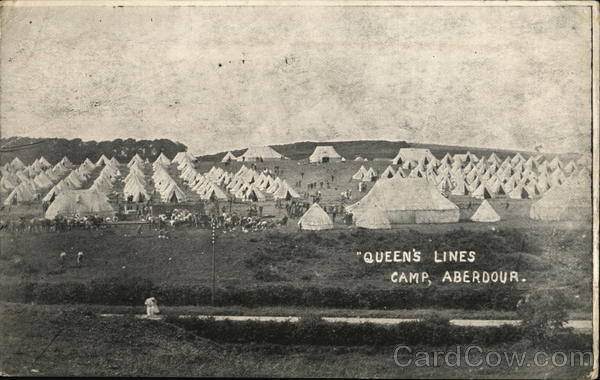 Queen's Line, Camp Aberdour Scotland Military